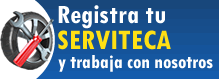 Registrate en nuestra red de servitecas.